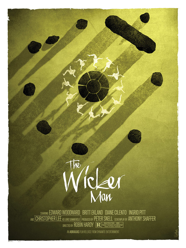 Minimalist poster for the original and best 1973 film The Wicker Man